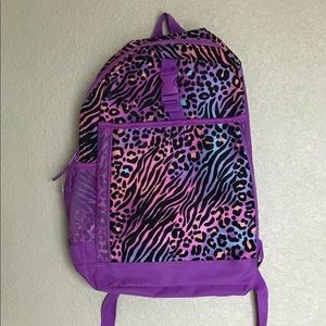Childrens Place Rainbow Leopard Backpack